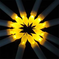 ночные светильники без пламени оптовых-Светодиодные свечи длинные полосы ночник мода электронные беспламенного свечи творческий подарок Свадьба День Рождения рождественский декор 2 56qy F R