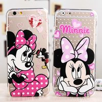 Wholesale Iphone Mike - Cartoon Cases For Samsung S8 Plus iPhone 7 Transparent Case 6s 6 Plus Phone Case Samsung S7 Edge Stitch Mike Pooh Minnie Mickey Sulley