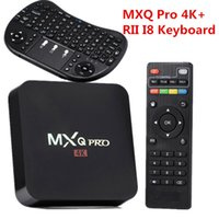 Wholesale Li Pro - 4K TV Box MXQ Pro S905w RK3229 1GB 8GB Quad Core Android 6.0 TV Box with New RII i8 Wireless Keyboard Fly Air Mouse Li-battery