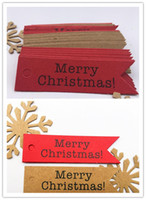 Wholesale hanging gift tags for sale - Hot Decorative Merry Christmas Paper Gift Tags Label Hanging Cards DIY Home Party Decorations Christmas Accessories