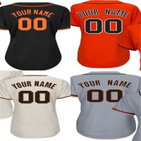 Wholesale Ladies L Xl Size - Hot Sale 2017 Womens Custom San Francisco Personalized Ladies  Female Shirt Name &Number All Stitched Baseball Jerseys Size S-2XL