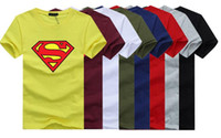 Wholesale Cotton Superhero T Shirts - cotton t shirts Rock Band 3D Marvel Superheroes Starwars men shirts