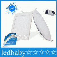 2016 Led Panel Lights Dimmable 9W / 12W / 15W / 18W / 21W CREE Led Einbauleuchten Lampen Warm / Natural / Cool White Super-Thin Round / Square 110-240V