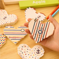 Wholesale Creative Heart Style Navigation Memo pads Vintage sticky notes Kawaii Stationery school office writing supplies Pepalaria