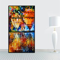 Wholesale Life Palette - Modren Palette Knife Painting Hot Air Balloon Painting Printed on Canvas Mural Art for Home Office Decoration