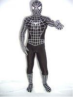 Wholesale Body Suit Costume Kids - Top-high Quality Unisex Adult Kids Full Body Black Lycra Spandex Superhero Spiderman Zentai Suits Halloween Costume
