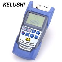 Wholesale Power Cable Fault - Wholesale- KELUSHI All-IN-ONE Fiber optical power meter -70 to +10dBm 1mw 5km Cable Tester  Visual Fault Locator  Cable Tester FTTH