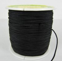 Wholesale Wholesale Chinese Knotting Cord - Black Factory Price 1.5mm nylonguyj 160M 175yards lot Chinese OP,E Knot String Nylon Cord Rope for Shamballa Bracelet jewelry DIY