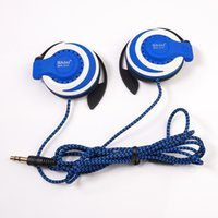 Wholesale Noise Cancelling Telephone - ShiniQ940 Free Shipping Headphones 3.5mm Headset EarHook Earphone For Mp3 Player Computer Mobile Telephone Earphone Wholesale
