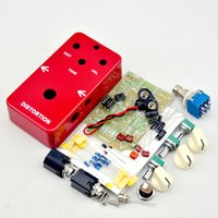 Wholesale Guitar Effect Enclosures - NEW DIY electric Guitar Distortion Effect Pedal switch   Electric pedal guitarra effect kits true bypass+1590B Enclosure