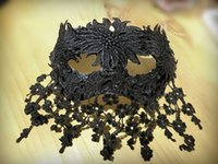All'ingrosso-Nero ricamo veneziano Masquerade Lace Eye Mask Halloween Party Fancy Dress