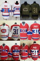Wholesale Best Sale Factory Price - Factory Outlet Mens Montreal Canadiens 31 Carey Price White Green Red Best Quality Hot Sale Cheap 100% Embroidery Logo Ice Hockey Jerseys