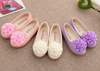 Wholesale Dancing Cow - New Kids girls shoes Spring Summer Flower Design Leather shoes Fashion Girl Sandals princess children dance shoes