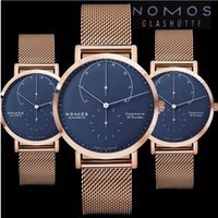 Wholesale German Brand Watches - German men's brand NOMOS luxury watch Fashion montre homme steel strip Leisure Men's Watches Reloj Clock Hombre Wristwatches NOMOS watch