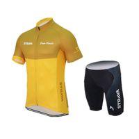 jersey de bicicleta cielo negro al por mayor-2016 de calidad superior ciclismo jersey ciclismo ropa ropa ciclismo hombres estilo de verano maillot ciclismo ropa deportiva de manga corta o amarillo anaranjado