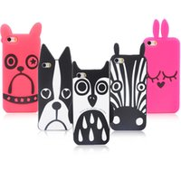 Wholesale Owl Silicone Phone Case - Marc.Jacobs Cute 3D Cartoon Animal Design Love Dog Zebra Owl Rabbit  Husky cat Soft Silicone For iPhone 5 5s 5G case Phone Cases