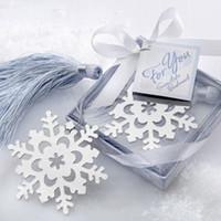 ayı imi toptan satış-10 adet Kar Tanesi Bookmarker Imi Öğrenci Hediye kutusu Düğün Iyilik Ayı Imleri Parti Noel