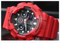 Wholesale Led Battery Clocks - 2017-AAA men's brand luxury sports watch and metal box outdoor multi-function watch G men's clock impact watch waterproof wholesale.