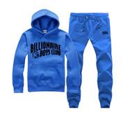 Wholesale Black Gold Boy Suit - 2017 Free Shipping BILLIONAIRE BOYS CLUB Hoodies BBC Men Hip Hop suit Cotton Sweatshirts black letter Tops spring Baseball uniform