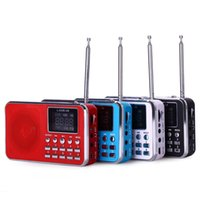 Wholesale Dock Radio - Wholesale- L-938B Portable AM   FM Radio Speaker Music Player with MP3 music player USB port 8GB micro SD card TF Card USB Disk Input