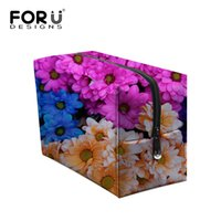 Make Up Organizador Bag Mulheres Floral Daisy Print Viagem casual Multi Functional Cosmetic Bag Storage Lady Pu Waterproof Beautycase