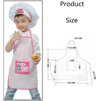Wholesale kids chef hat resale online - 1 Set Polyester Kids and Chef Hat Child Cooking Baby Junior Chef Cook Apron Painting Apron Family Supplies