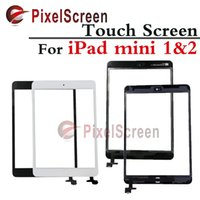 Wholesale Ipad Mini Touch Panel - Tablet Touch Panel For iPad Mini 1 iPad Mini 2 Touch Digitizer Screen with home button White & Black free shipping