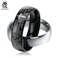 Wholesale Steel Connection - Classic Cross Design Black and Silver Color Rings Connection Men Women Stainless Steel Rings Accessories GTR18