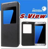 samsung cep telefonlarını göster toptan satış-S10 Artı S9 S8 Artı Deri Flip Cep Telefonu Kılıfı Için Samsung Galaxy S7 Pencere görünüm Şok Geçirmez Kapak Iphone 7 Galaxy S7 KENAR VAKA