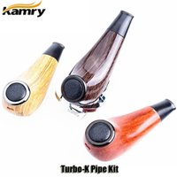 100% Original Kamry Turbo-K Pipe Kit 1000mAh Box Mod Batrtery 2ml Top Füllen Turbo K Tank Holz Vaporizer
