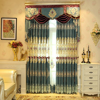 blackout curtains sale - Hot Sale Curtain Western Living Room Bedroom Curtains Chenille Jacquard Weave Blackout Window Valance Curtains Per Meter Cloth