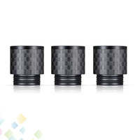 Wholesale flat mouthpiece drip tip for sale - Group buy Carbon Fiber TFV8 Drip Tips Flat wide bore Drip Tip Mouthpieces for TFV8 BIG BABY TFV12 Atomizers DHL Free