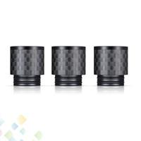 atomizador do furo venda por atacado-Fibra de carbono TFV8 Drip Tips plana larga furo Drip Tip 810 Boquilhas para TFV8 BIG BABY TFV12 Atomizadores DHL Livre