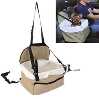 Wholesale Dog Booster - Pet Booster Seat Deluxe Dog Booster Car Seat Seat Safety Belt Tether Sheepskin Lining Puppy Car Seat Folding Travel Doggy Car Seat