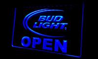 ingrosso neon luminoso di bud-LS121-b Bud Light Beer OPEN Bar segno di luce al neon