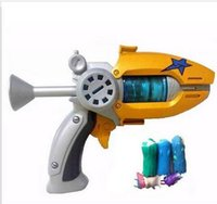 Wholesale Bullet Action - Hot Sale Cartoon Anime Slugterra Play Shot Gun Toy Give 3 Bullets&2 Slugterra Action Figure As Presents, Boy Toy Pistol Gun Gift