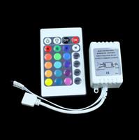 Wholesale Ir Strip Lights - 12V 24 Key Wireless led IR Remote Controller For 3528 5050 RGB LED Strip Light free shipping