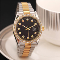 Wholesale 36mm Automatic Watch - relogio Swiss luxury brand women's diamond blue mechanical watch automatic date stainless steel strap 36MM business casual AAA watches