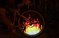 telas led programáveis venda por atacado-Bicicleta falou bicicleta luz do pneu da roda programável LED frente e verso da tela imagem da noite passeio de bicicleta frete grátis