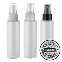 Wholesale Empty Plastic Water Bottles - Wholesale- 100mlx50 empty round white color spray pump plastic bottles 100cc empty cosmetic container 3.4oz toilet water PET bottles spray