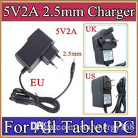 Wholesale Tablets A13 - 5V 2A DC 2.5mm Plug Converter Wall Charger Power Supply Adapter for A13 A23 A33 A31S ALL Tablet PC EU US UK plug Retail A-PD