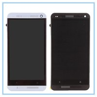 Wholesale One M7 Dual Sim - Tested Dual SIM For HTC ONE M7 802t 802D 802W LCD Display Touch Screen Panel Digitizer Full Assembly+ Frame Bezel Free Shipping