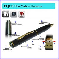 Wholesale Spy Pen 16g - 16GB memory built-in pen mini camera pen hidden  hidden video pen camera pen camera WITH 640*480 real spy camera PQ113 PQ113