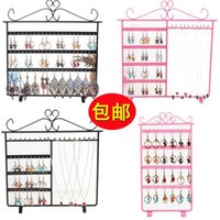 Wholesale Shipping iron Earrings rack with multiple jewelry display rack Earrings Jewelry Jewelry Necklace props shelf storage rack