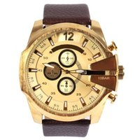 Wholesale Display For Watch Bands - Hot Men's Watch Fashion Round Leather Band Date Display Function Dial and Sub-Dials Decoration Casual Luxury Quartz Wristwatches for Men