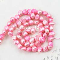Wholesale 15inch Necklace - 15inch lot Natural Cultured Multicolor Nugget Freshwater Pearl Beads Stands,AAGrade 5-6mm for Necklace DIY Jewelry Making K01882