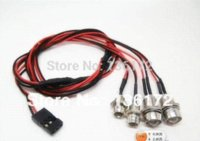 Wholesale wholesale rc car parts online - 2set RC drift truck Car accessories parts Led lights for rc Car light kit