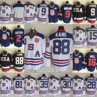 Wholesale Brian Leetch Jersey - 2010 Team USA 88 Kane 81 Kessel 28 Brian Rafalski 30 Thomas Miller 15 Langenbrunner 9 Parise 16 Hull Leetch Throwback Hockey Jerseys