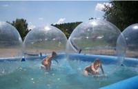reißverschluss für wasserkugel großhandel-PVC-Material aufblasbare Wasserblase Große aufblasbare Wasser gehende Bälle Wasser Spaß Pool Spielzeug aufblasbare Tanzen Reißverschluss Ball