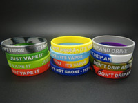 Wholesale Custom Printed Bracelets - Big Silicone Vape Band Silicon Beauty Decorative Sport Ring 202X12MM Colorful Wristband Bracelet Custom Embossed Debossed Silk Print Ecig